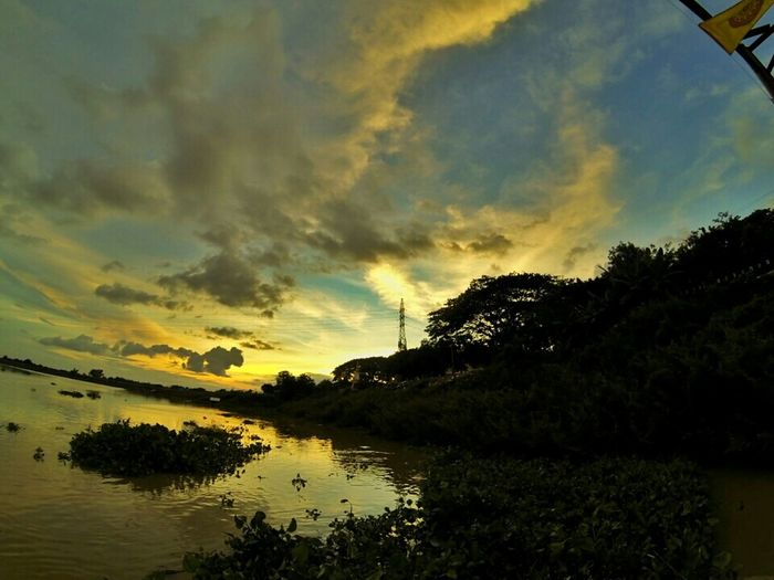 Creative Light And Shadow Traveling Goprohero3 Sunset_collection Sky And Clouds Sky_collection Nature_collection Landscape Water Reflections