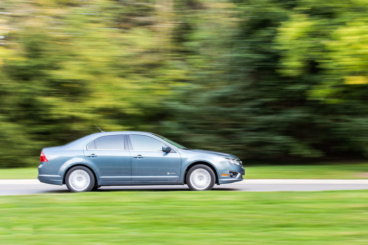 The Fast and the Fusion Ford Ford Fusion Blurred Motion Car Day Grass Green Color Luxury Motion Nature No People Outdoors Speed Transportation Tree