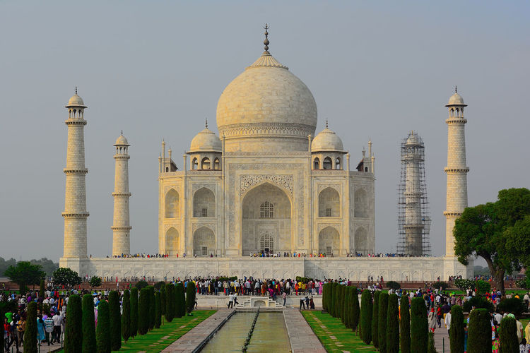 the symbol of love 7th Wonder Of The World EyeEmNewHere Taj Mahal, Agra Ancient Civilization Arch Architecture Building Exterior Built Structure Crowd Dome Large Group Of People Seven Wonders Of The World Tajmahal India The Past Tourism Travel Travel Destinations Wonderoftheworld