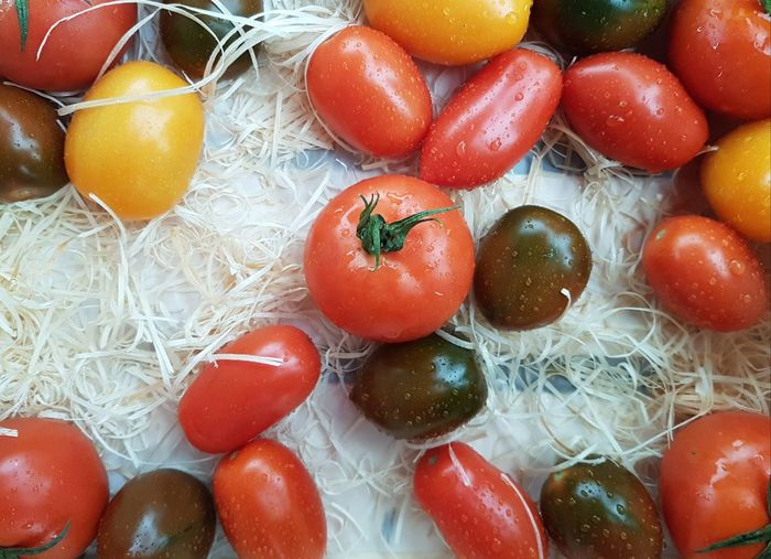 Tomato Tomatoes Tomatoes Up Close Tomate Vegetable Vegetables Food Market Vegetables & Fruits Vegetable Market Black Tomato Yellow Tomatoes Tomato Background High Angle View Close-up Food And Drink