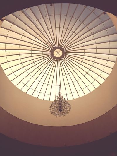 Hall Low Angle View Ceiling Built Structure Indoors  Architecture Geometric Shape Circle First Eyeem Photo