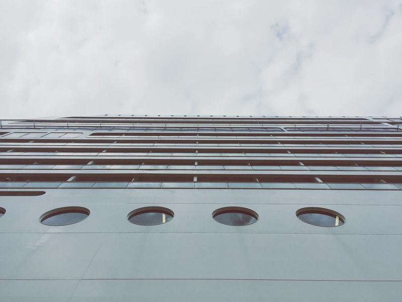 No People Day Minimalism White Color Liner Ship Sky Cruise Ship