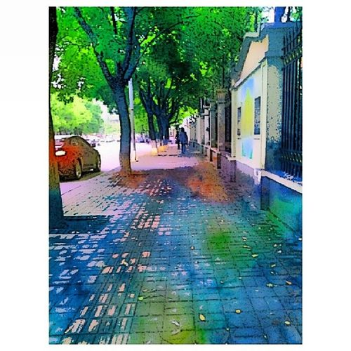 Sketch Watercolor Deep StreetScenes Cityscenes Scenes Ilobsterit Colorful Green Lovely