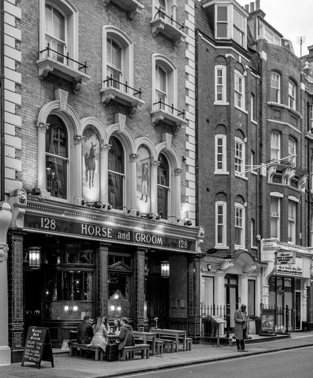 The Horse and Groom, Great Portland Street, Marylebone, London Architecture Marylebone London Pub Pubs Black And White Monochrome FUJIFILMXT2 Monochrome Photography FUJIFILM X-T2 London Architecture