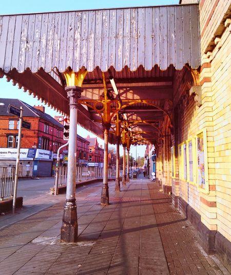 Crosby Street Wood And Metal Yellow Brick TrainStation