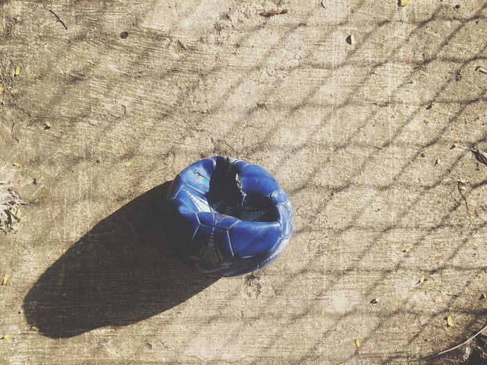 Soccer Ball Soccer Football Shadow High Angle View Sunlight Blue Day Ball No People Outdoors