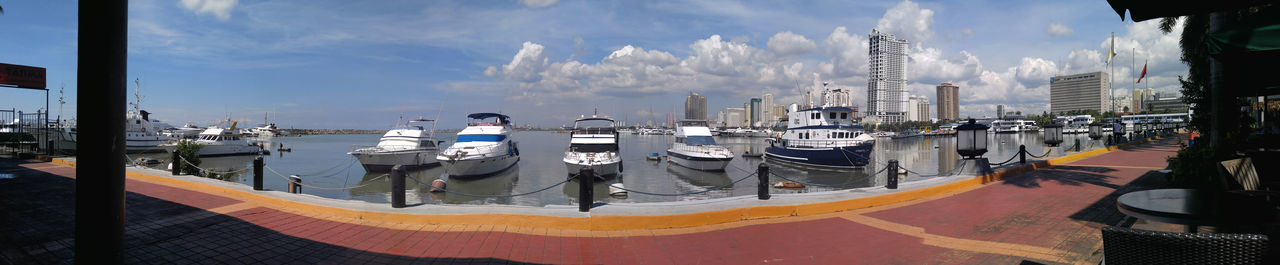 Harbor View Roxas Boulevard Manila, Philippines Eyeem Philippines Boats And Water Sky Outdoors Cloud - Sky No People Tree Architecture Day