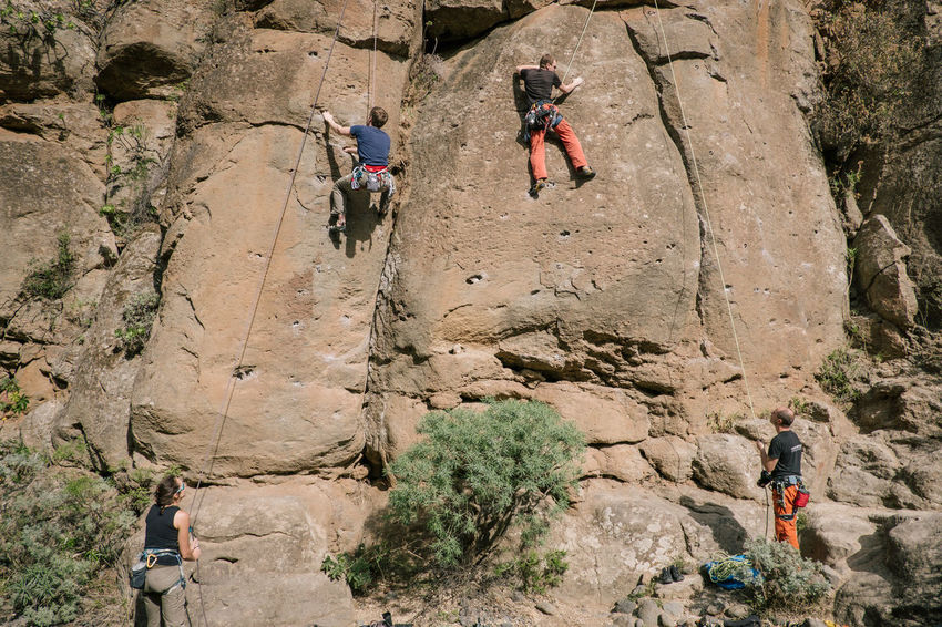 Climbing in Arico / Tenerife Adventure Challenge Climbing Climbing Rope Danger Extreme Sport Leisure Activity Mature Adult Mature Women Mountain Mountain Climbing Mountain Range Mountains Nature Outdoors Real People RISK Rock Rock - Object Rock Climbing Rock Formation Rope Sport Teamwork Three People