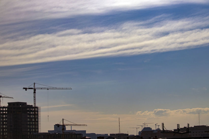Bucharest City Cloud Cloudscape Love Life Nice Day Sky And Clouds Architecture Building Exterior Buildings Built Structure City Cityscape Cloud - Sky Clouds Clouds And Sky Crane Day Nature No People Outdoors Sky Sunset View From Above Viewpoint
