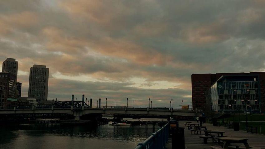 Massachusetts Boston Pink Sky