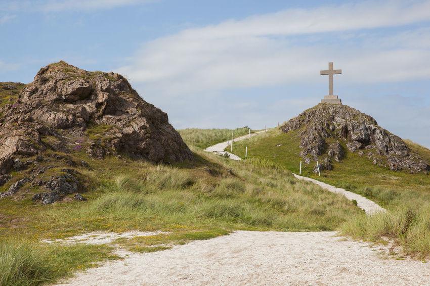 Anglesey Beach Britain Coast Coastline Cross Dwynwen Footpath Gwynedd Island Llanddwyn Island Path Religion Religious Architecture Ruins Sea Summer Tidal Wales