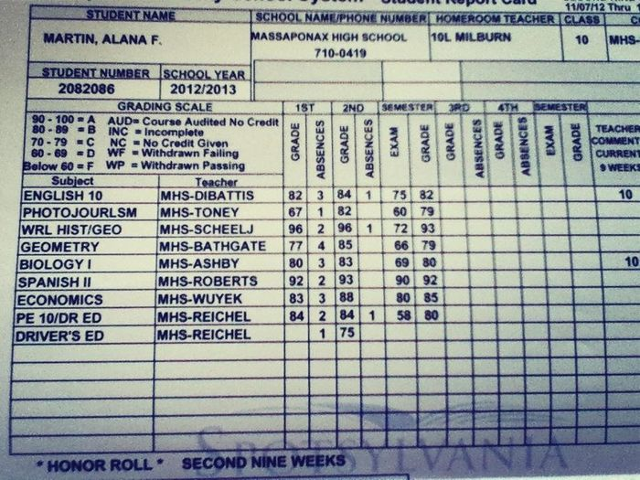My Report Card