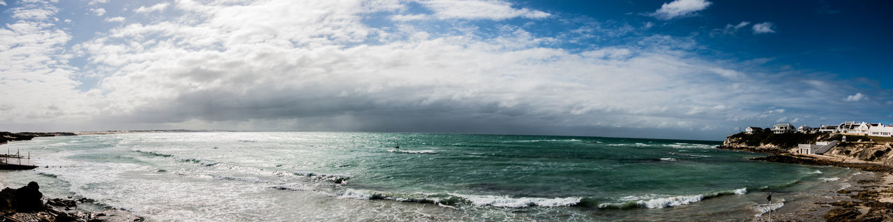 Awe Beauty In Nature Cloud - Sky Day Horizon Over Water Hurricane - Storm Motion Nature No People Outdoors Power In Nature Scenics Sea Sky Storm Storm Cloud Thunderstorm Water Waterfall Wave