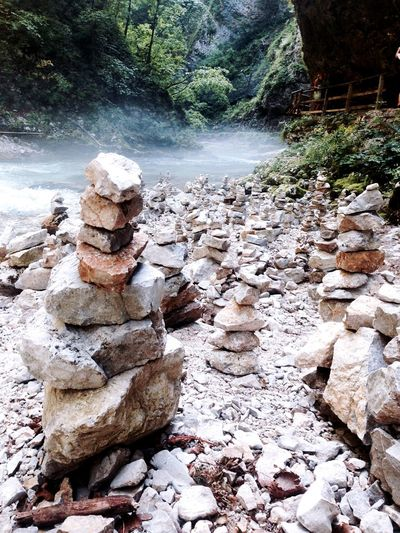 Rock stacks Vintgar Gorge Rocks Walking
