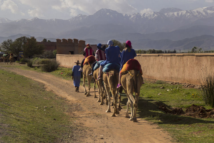 Marrakech Morroco Group Of People Mountain Real People Scenics - Nature Nature Landscape Transportation Lifestyles Mountain Range Travel Traveling EyeEm Best Shots EyeEm Nature Lover EyeEm Best Edits