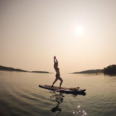 Sun salutations - PrincesInlet . VisitNovaScotia Igersottawa Gopro yoga sup