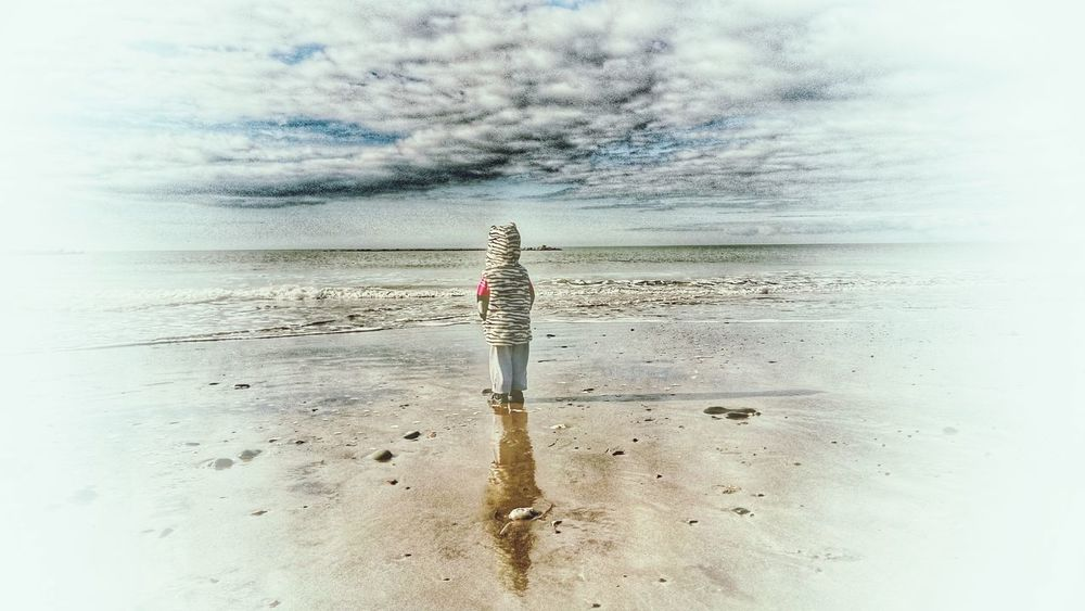 Distant View Distant Memory Childs View Alone Time Memories ❤ Children Photography Beachphotography Borth, Wales Child Portrait Looking Into The Future Out To Sea Being A Beach Bum Sea Through A Childs Eyes Showcase March Youth Is Wasted On The Young... Reflections In The Water Shadows & Lights Family Grand Childen The KIOMI Collection