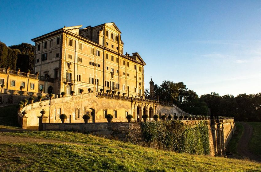 Villa Aldobrandini in Frascati Architecture Built Structure Building Exterior History Clear Sky Outdoors No People Sky Tree Day Nature Italy Rome Tourism Travel Weddinglocation Amazing Picoftheday Photography Castelliromani