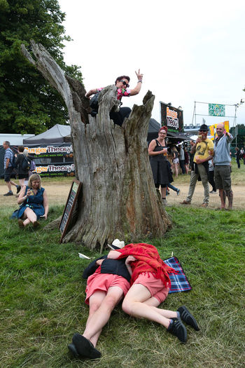 Scenes from the 2016 Latitude festival in Southwold, Suffolk. Festival Grass Latitude Latitude Festival Latitudefestival Leisure Leisure Activity Nap Napoli Outdoors Relax Relaxation Sleep Sleeping Stump Tree Stump