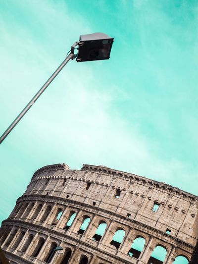 Colosseo Colosseo Coliseum Roma Rome Architecture Architecture_collection Streetlights Blue Sky Blue EyeEm EyeEmBestPics EyeEm Best Shots