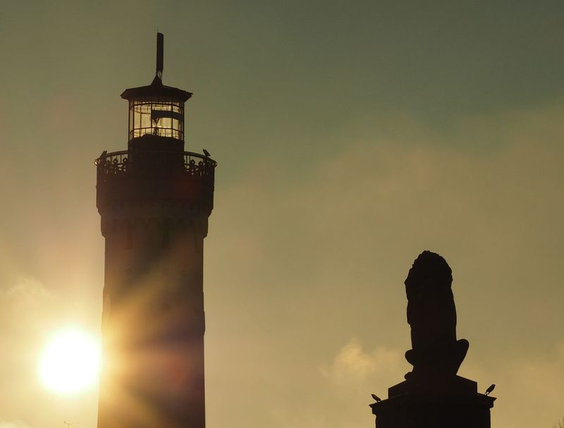 Lighthouse and Lion Architecture Bodensee Germany Golden Hour Lakeside Lighthouse Lindau Lion Löwendenkmal Magicoflight Monument Sunset Sunshine Travel Destinations