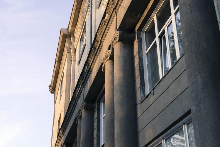 Building Wall Windows Novosibirsk Novonikolayevsk Siberia Russia
