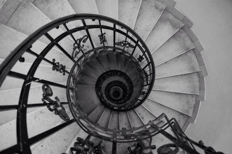 Black And White Friday Spiral Steps And Staircases Architecture High Angle View Stairs Budapest Cathedral