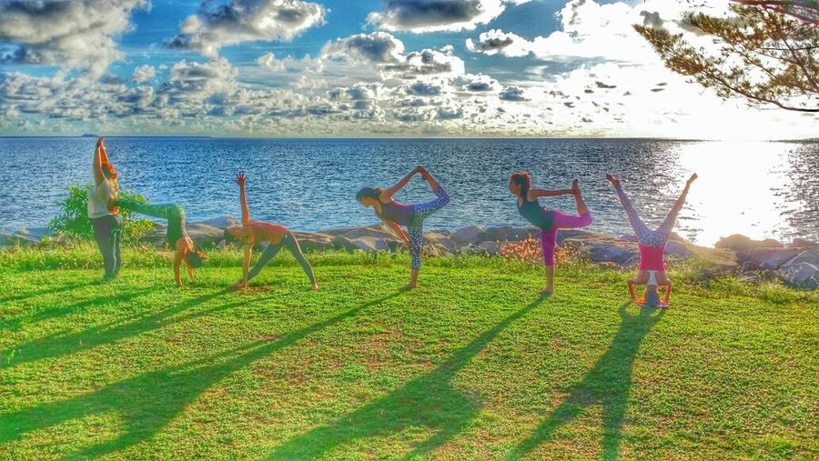 We Are Happy Brunei. Sunset #sun #clouds #skylovers #sky #nature #beautifulinnature #naturalbeauty #photography #landscape Yoga Yogis