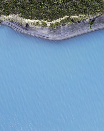 Glacier lake in south island of new zealand