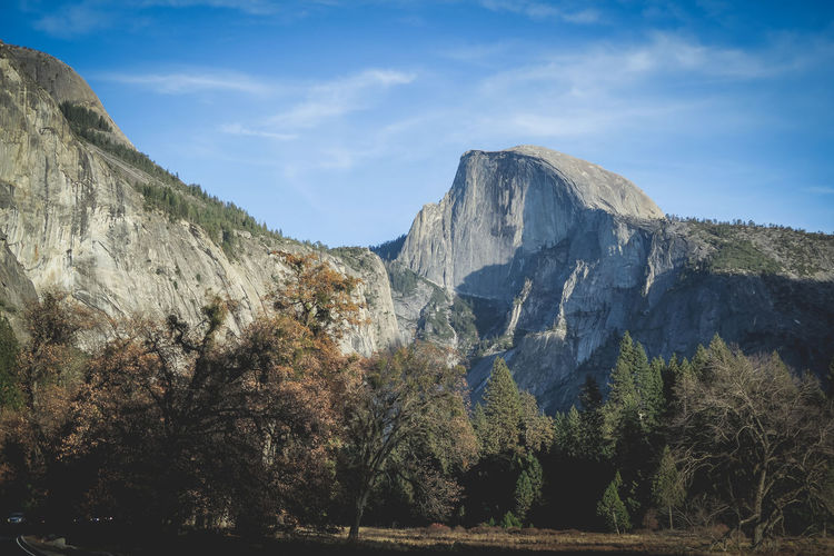 Scenic view of mountains against sky yosemite