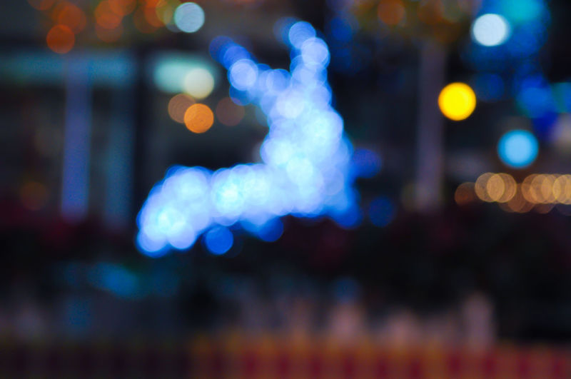 Abstract colorful from defocused photography. Lights blurred bokeh background in christmas night. Abstract Art Blurred Background Bokeh Photography Christmas Decorations Christmas Lights Circle Of Lights City Defocused Illuminated Little Reindeer Luminosity Night Night Lights No People Sparkle