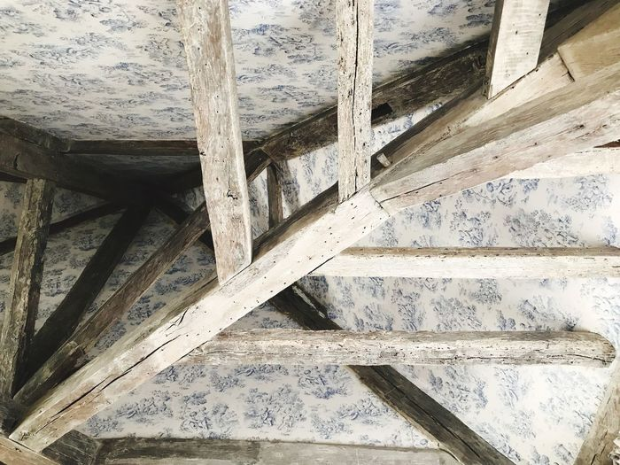 Roof Indoors  No People Architecture Pattern Full Frame Close-up High Angle View Built Structure Wood - Material
