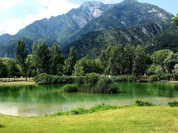 Green Lake Green Lake Lake View Lakes  Lake Verde Carnic Alps Carnia Lago Di Cavazzo Green Color Tranquil Scene Tranquility Green Color Mountain Outdoors Idyllic