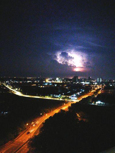 Lightning Strikes Huaweiphotography HuaweiP9plus Night Photography