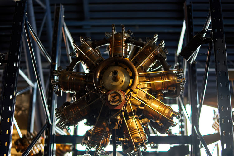 Mechanic Mechanical Airplane Mechanic Architecture Built Structure City Close-up Day Engine Illuminated Indoors  Industry No People Time Machine Vintage Rethink Things