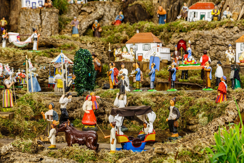 Madeira Island Adults Only Agriculture Baby Jesus Crib Crib Figurine Crowd Day Field Focus On Foreground Food Grass Large Group Of People Mature Adult Men Nature Outdoors People Shepherds Sitting Tree Women Young Adult Young Women