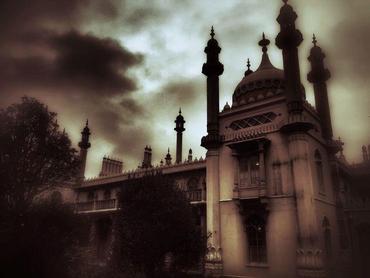 Royal Pavilion, Brighton. 2014 Architecture Brighton Pavilion Cloud - Sky Cloudy Famous Place Gothic Gothic Architecture Gothic Beauty  History Low Angle View Minarets Regency Royal Pavilion Royal Pavilion Gardens Sky Tourism