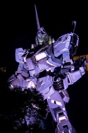 RX-0 ユニコーンガンダム Ver.TWC(TOKYO WATER FRONT CITY) Figure Gundam Night Lights Nightphotography Olympus Statue Unicorn Gundam Full Size Illuminated Night Nightlife Nightshot Olympus Om-d E-m10 ユニコーンガンダム