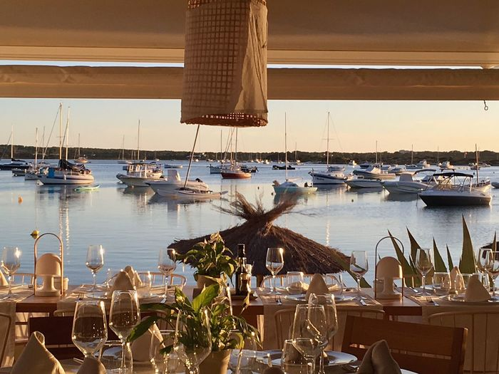 Water Restaurant Table Nautical Vessel Sea Transportation Place Setting No People Day Outdoors Nature Moored Yacht Sky