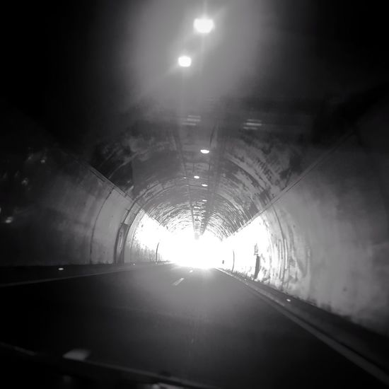 on the road again Nopeople EyeEmNewHere Blackandwhite Ontheroad Driving Lights In The Dark Lights Photooftheday Photography EyeEm Best Shots Eye4photography  EyeEm Best Shots - Black + White Tunnel Indoors  Illuminated Light At The End Of The Tunnel Built Structure Architecture