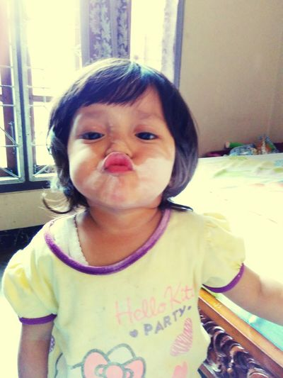 My lovely meyza, Baby Girl , Potrait , Cute Baby Funny Faces