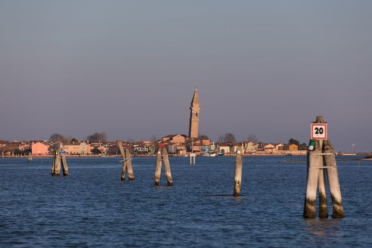 Venice Sea Burano Water No People Architecture Built Structure Sea Clear Sky Day