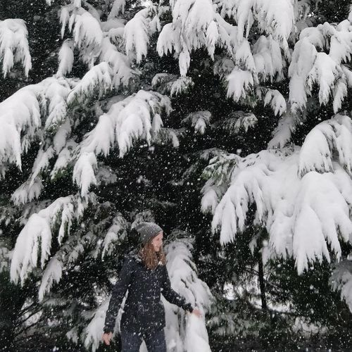 Shades Of Winter Snow Winter Cold Temperature Human Body Part Outdoors Nature One Person Real People Beauty In Nature People Day Adult Tree