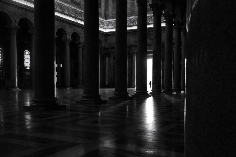 Colonnade In Church