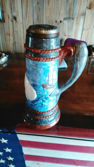Large Stein mug, American flag, indoor, no people Indoors  No People Drink