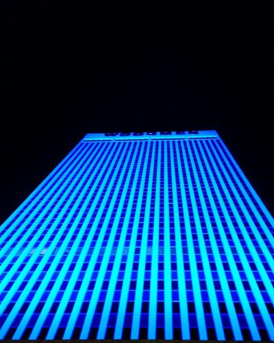 Woodmen Of The World Omaha, Nebraska At Night Blue Lights  Beautiful Enticing Check This Out Hello World Taking Photos