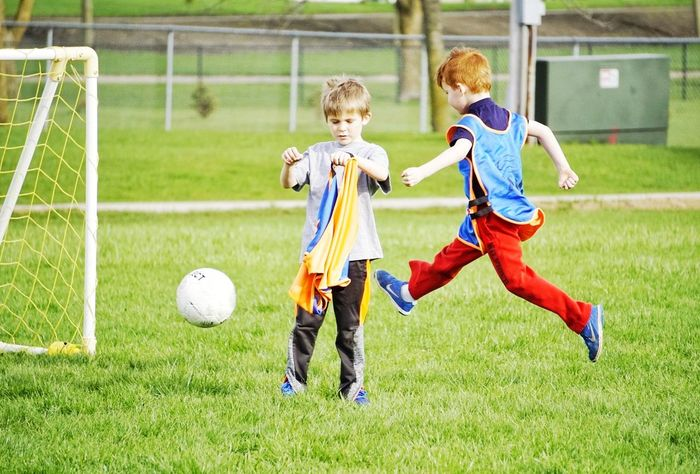 Airborne Boys Kids' Soccer Kick Fun Springtime Red Heads :)