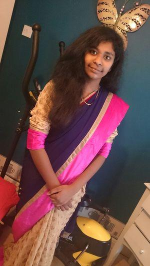 Hi!That's Me In Indian Costume Saree....