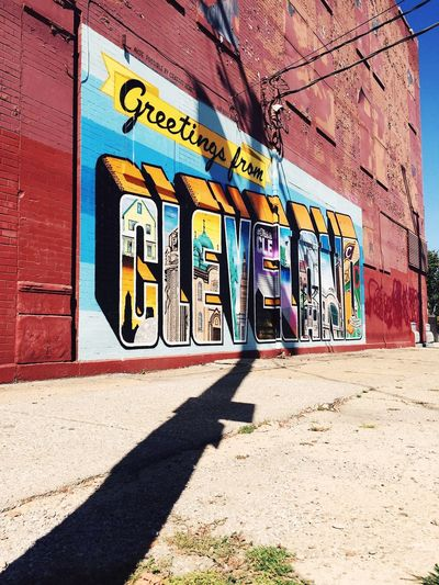 Greetings Mural Art Mural Postcard Built Structure Architecture Graffiti Building Exterior Sunlight Shadow No People Wall - Building Feature Street Wall