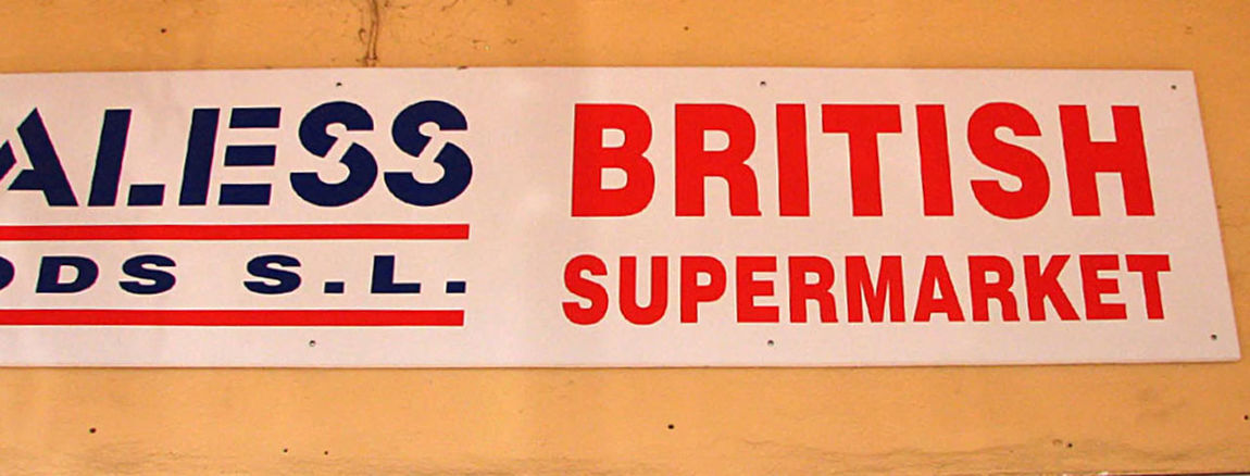 British Supermarket Close-up Costa Del Sol Day Eating In Spain Home From Home Indoors  No People Red Supermarket Sign Text Timeshare